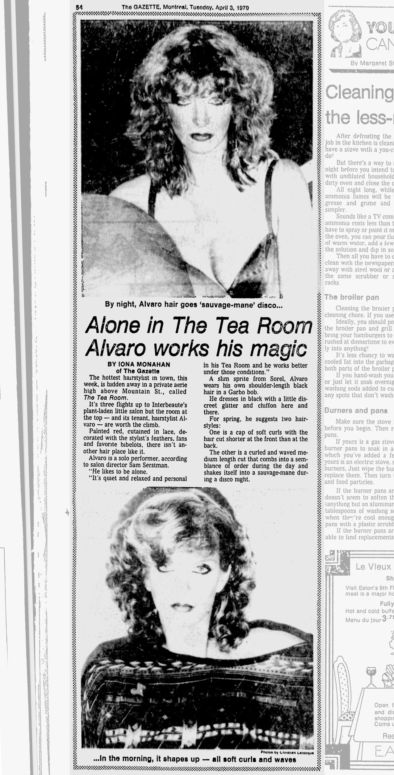 Iona Monahan - Alvaro - Montreal Gazette 1979-04-03